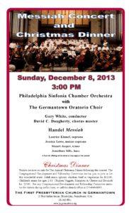 Messiah & Christmas Dinner-Poster II