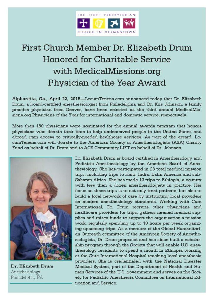 Liz Drum - Award