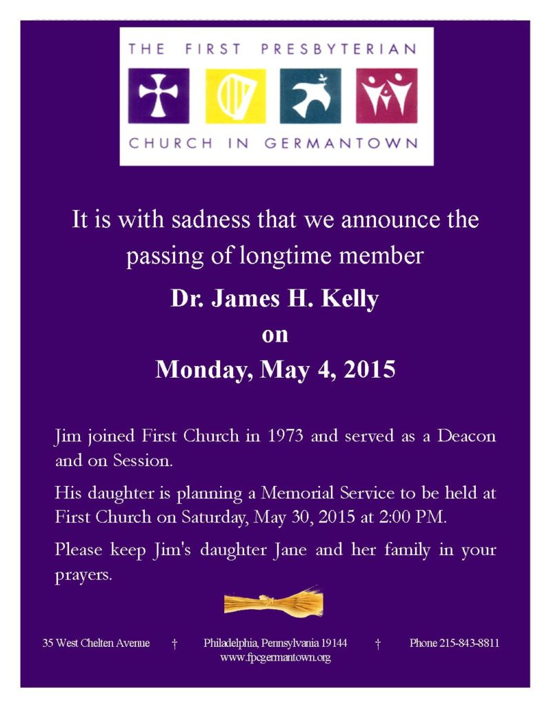Death Announcement (Final) - Jim Kelly