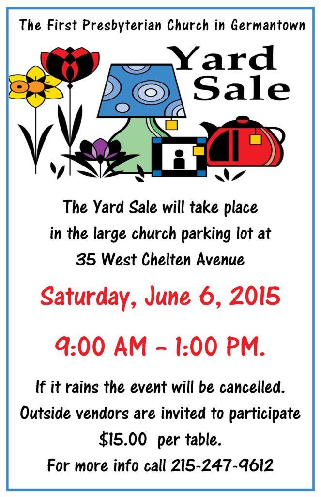 Yard Sale 2015