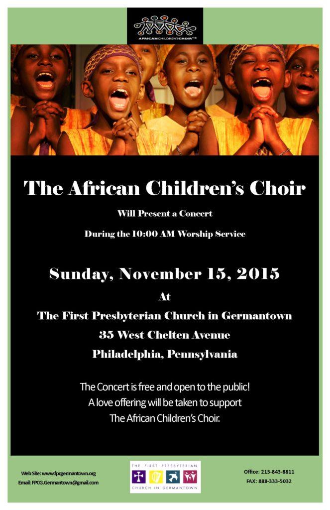 African Children's Choir 11-15-15