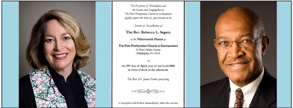 Installation Service for Rev. Rebecca Segers, April 29, 3pm